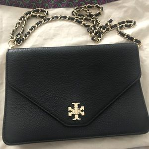 Tory burch KiRa clutch envelope black leather